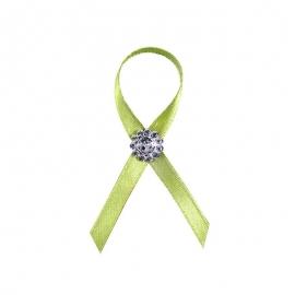 Svadobné pierka zelené s kamienkom