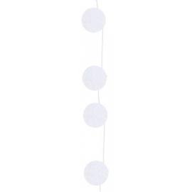 Girlanda biela kruhy