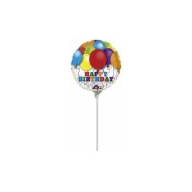 Mini Fóliový balón Balloon Bday 4´´