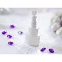 Bublifuk svadobný biely srdce