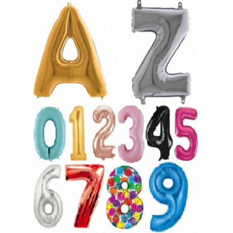 Héliový balón veľké číslo alebo písmeno