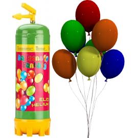 Héliová fľaša 20 + balóny 20ks