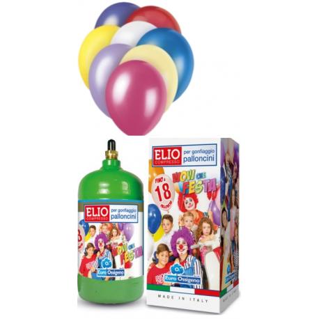 Héliová fľaša na 18 balónov + 18 balónov