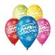 Balóny Happy Birthday latexové 10ks