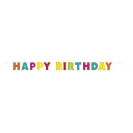 Banner Happy Birthday dúhovo-zlatý