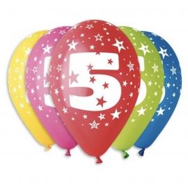 """Latexové balóny """"5"""""""