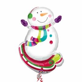 MAXI fóliový balón snehuliak