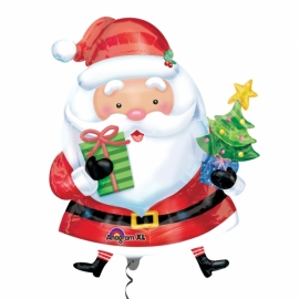 MAXI fóliový balón Santa s darčekmi