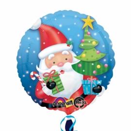 Foliový balón Santa s darčekami