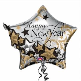 MAXi Foliový balón New Year Hviezda
