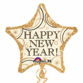 Fóliový balón Happy New Year hviezda