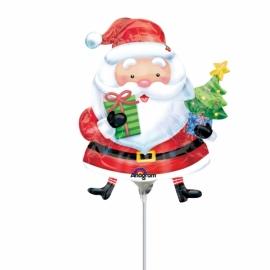 Mini fóliový balón Santa