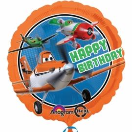 fóliový balón happy birthday lietadlá