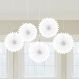 Mini rozetky biele