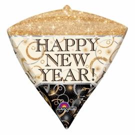 Fóliový balón New Year - diamant