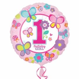 Foliový balón 1.narodeniny B-day Girl