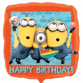 Foliový balón Mimoni Happy Birthday