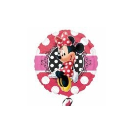 Foliový balón Minnie Portrait dots