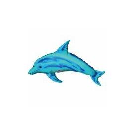 Mini foliový balón modrý Delfín