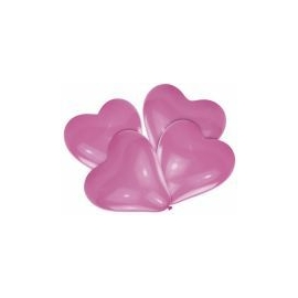 Srdcové balóny ružové 30cm