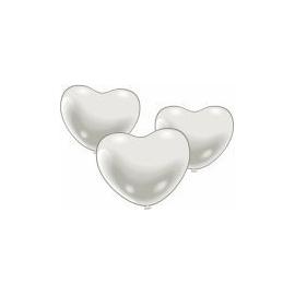 Balóny srdce biele stredné