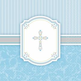 Servítky krížik, modré