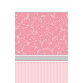 Obrus krížik ružový