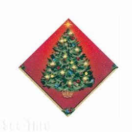 Servítky žiarivé Vianoce