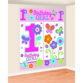 Nástenná dekorácia 1.narodeniny B-day Girl