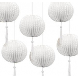 Lampion biely s dekoráciou*