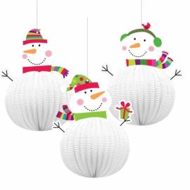 Snehuliaci 3D dekorácia