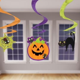 Visiace špirály Halloween mix