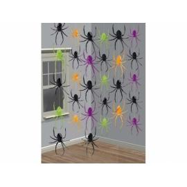 Visiace dekorácie pavúci
