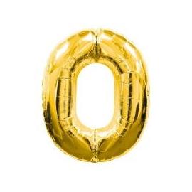 MAXI zlatý fóliový balón 0