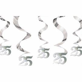 Visiace špirály 25 sliver