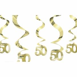 Visiace špirály 50 gold