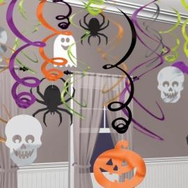 Sada 30 špirál Halloween