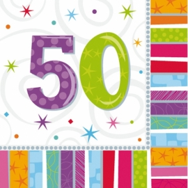 Servítky Radiant Birthday ´´50´´