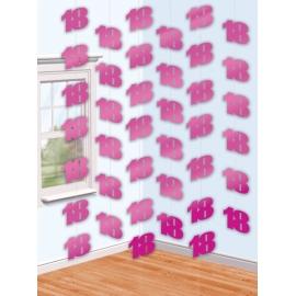 Visiace dekorácie ružové 18