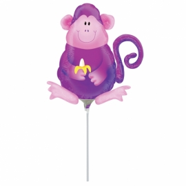 mini fóliový balón opica