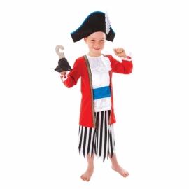 Kostým Kapitán pirátov 6-8 rokov
